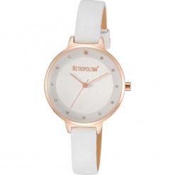 """Zegarek kwarcowy """"Darling"""" w kolorze biało-różowozłotym. Białe, analogowe zegarki damskie METROPOLITAN, metalowe. W wyprzedaży za 130,95 zł."""