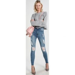 Rurki damskie: Missguided SINNER MARBLED Jeans Skinny Fit blue