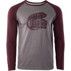 IGUANA Koszulka męska Themba brushed nickel melange/zinfandel r. M. Brązowe koszulki sportowe męskie marki IGUANA, s. Za 66,09 zł.