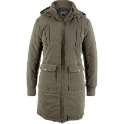 Płaszcz z ciepłym watowaniem bonprix ciemnooliwkowy. Zielone płaszcze damskie bonprix. Za 239,99 zł.