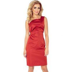 Sukienki: Dorotea Sukienka z wiązaniem – miedziana