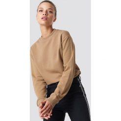 NA-KD Basic Bluza basic - Brown,Beige. Różowe bluzy damskie marki NA-KD Basic, prążkowane. Za 100,95 zł.