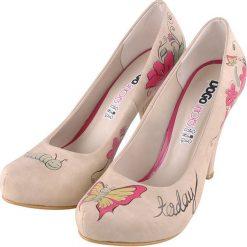 """Buty ślubne damskie: Czółenka """"Believe in Miracles"""" w kolorze beżowo-różowym"""
