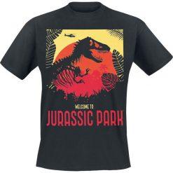 T-shirty męskie: Jurassic Park Welcome T-Shirt czarny