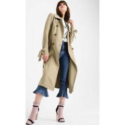 Płaszcze damskie pastelowe: Płaszcz wiązany w pasie