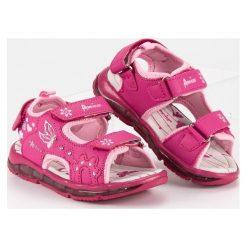 Dziewczęce sandałki american club  różowe. Czerwone sandały dziewczęce marki American CLUB. Za 89,90 zł.