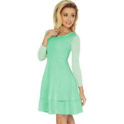Irene Sukienka z TIULOWYMI rękawkami - MIĘTOWA. Zielone sukienki na komunię numoco, s, z tiulu, z falbankami. Za 189,00 zł.