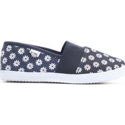 Granatowe Tenisówki Dancing Feets. Niebieskie buty sportowe dziewczęce Born2be, z materiału, z okrągłym noskiem. Za 29,99 zł.