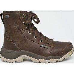 Columbia - Buty Camden Outdry Leather Chukka. Brązowe buty trekkingowe męskie Columbia, z materiału, na sznurówki, outdoorowe. Za 629,90 zł.