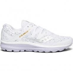 """Buty sportowe """"Guide Iso"""" w kolorze białym. Białe buty sportowe damskie Saucony, z materiału. W wyprzedaży za 309,95 zł."""