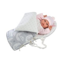 Śpiochy niemowlęce: Noworodek Bebita w szarym śpiworze 36 cm –