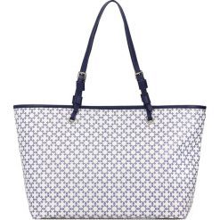 Torebki i plecaki damskie: Biało niebieska torebka damska