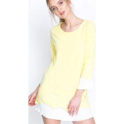 Żółta Sukienka Northen Star. Żółte sukienki mini marki Born2be, na imprezę, s, z materiału, retro, z okrągłym kołnierzem. Za 99,99 zł.