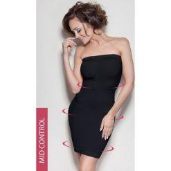Sukienka wyszczuplająca Elite Tube. Czarne sukienki z falbanami marki Astratex, z mikrofibry, z dekoltem na plecach. Za 80,99 zł.
