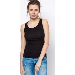 Bluzka basic bokserka czarna. Czarne bluzki z odkrytymi ramionami Yups, l, z bawełny, młodzieżowe. Za 29,99 zł.