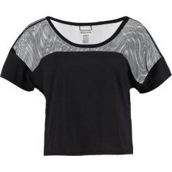 Reebok Koszulka sportowa black. Czarne t-shirty damskie marki Reebok, xl, z elastanu. W wyprzedaży za 125,30 zł.