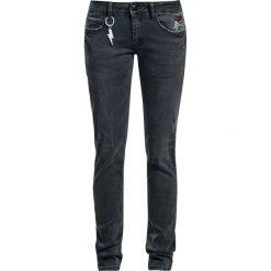 AC/DC EMP Signature Collection Jeansy damskie czarny. Czarne jeansy damskie AC/DC, z aplikacjami, z jeansu. Za 121,90 zł.