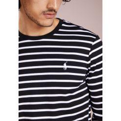 Koszulki polo: Polo Ralph Lauren PIMA SOFT TOUCH Bluzka z długim rękawem black/white