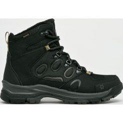 Jack Wolfskin - Buty. Czarne buty trekkingowe męskie Jack Wolfskin, z materiału, na sznurówki, outdoorowe. W wyprzedaży za 449,90 zł.