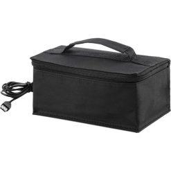 Elektryczna torba na lunch - (S)21 x (W)9 x (G)13 cm. Czarne shopper bag damskie InnovaGoods, z materiału. W wyprzedaży za 64,95 zł.