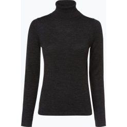 Brookshire - Sweter damski z domieszką wełny merino, szary. Czarne swetry klasyczne damskie marki brookshire, m, w paski, z dżerseju. Za 179,95 zł.
