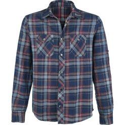 RED by EMP The Cowboy Who Started The Fight Koszula niebieski/czerwony. Białe koszule męskie na spinki marki bonprix, z klasycznym kołnierzykiem, z długim rękawem. Za 99,90 zł.