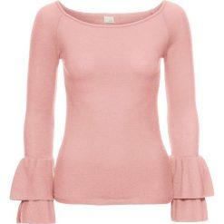 Swetry klasyczne damskie: Sweter bonprix jasnoróżowy