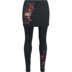 Outer Vision Leggings/Skirt Vicenza Tiger Lilies Legginsy czarny. Czarne legginsy we wzory Outer Vision, m. Za 144,90 zł.
