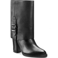 Kozaki GINO ROSSI - Matera DBG655-M13-GDSS-9999-F 99/99. Czarne buty zimowe damskie marki Gino Rossi, z materiału, na obcasie. W wyprzedaży za 389,00 zł.