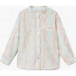 Mango Kids - Koszula dziecięca Madri 80-104 cm. Szare koszule chłopięce z długim rękawem Mango Kids, z bawełny. Za 59,90 zł.