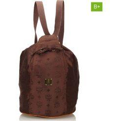 Plecaki damskie: Plecak w kolorze brązowym – 37 x 22 x 21 cm