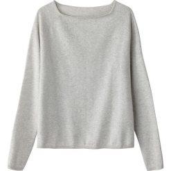 Swetry damskie: Sweter z dekoltem w łódkę, z cienkiej dzianiny