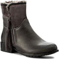 Botki JENNY FAIRY - WS16031-19 Szary. Szare buty zimowe damskie Jenny Fairy, z materiału, na obcasie. Za 119,99 zł.