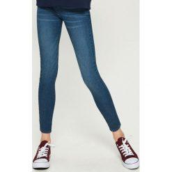 Jegginsy - Granatowy. Niebieskie legginsy Sinsay, z jeansu. Za 49,99 zł.