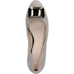 Czółenka MEI. Szare buty ślubne damskie Gino Rossi, ze skóry. Za 249,90 zł.