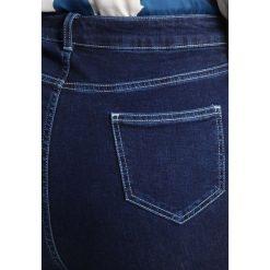 New Look Curves CONTRAST STITCH  Jeans Skinny Fit mid blue. Niebieskie boyfriendy damskie New Look Curves. Za 149,00 zł.