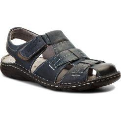 Sandały LASOCKI FOR MEN - MI18-ROUTER-02 Granatowy. Niebieskie sandały męskie skórzane marki Lasocki For Men. W wyprzedaży za 139,99 zł.