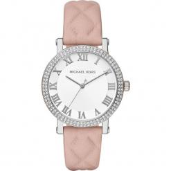 """Zegarek kwarcowy """"Norie"""" w kolorze jasnoróżowo-srebrnym. Szare, analogowe zegarki damskie marki Michael Kors, srebrne. W wyprzedaży za 522,95 zł."""