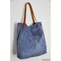 Torba tote XXL - szaroniebieska. Niebieskie torebki klasyczne damskie Pakamera, ze skóry, duże. Za 119,00 zł.