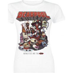 Bluzki z falbaną: Deadpool Royalties Koszulka damska biały
