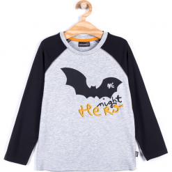 Koszulka. Czarne t-shirty chłopięce z długim rękawem Halloween, z nadrukiem, z bawełny. Za 45,90 zł.