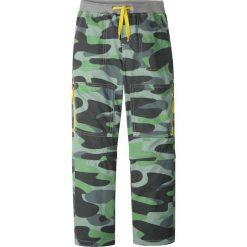 Odzież dziecięca: Spodnie z odpinanymi nogawkami, z mocnego i szybko schnącego materiału bonprix zielony wzorzysty