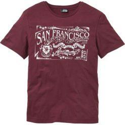 T-shirt z nadrukiem bonprix bordowy. Czerwone t-shirty męskie z nadrukiem marki Nike, s, z poliesteru. Za 34,99 zł.