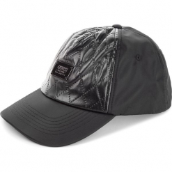 Czapka z daszkiem GUESS - AM7934 POL01 BLA. Czarne czapki z daszkiem damskie marki Guess, z aplikacjami, z materiału. Za 169,00 zł.