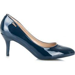 Szpilki: Klasyczne niebieskie szpilki shine carina Vices niebieskie