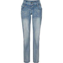 Dżinsy ze stretchem SLIM bonprix jasnoniebieski. Niebieskie jeansy damskie slim marki Sinsay, z podwyższonym stanem. Za 59,99 zł.