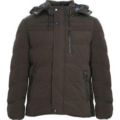 Ciemnozielona Kurtka Could Be More. Czarne kurtki męskie pikowane marki Born2be, m, z nadrukiem, z dresówki, z kapturem. Za 199,99 zł.