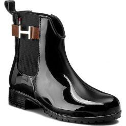 Kalosze TOMMY HILFIGER - Oxley 7R FW56821567 Black/Noce 918. Czarne buty zimowe damskie TOMMY HILFIGER, z materiału. W wyprzedaży za 239,00 zł.