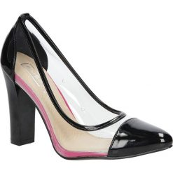 Czarne czółenka na słupku lakierowane Casu DP32/16BK. Czarne buty ślubne damskie Casu, z lakierowanej skóry, na słupku. Za 28,99 zł.