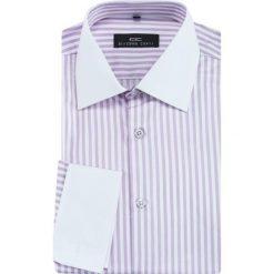 Koszula VITTORE slim 13-10-14. Białe koszule męskie Giacomo Conti, m, w prążki, z bawełny, z długim rękawem. Za 169,00 zł.